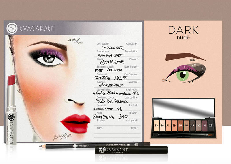 Evagarde face chart dark nude