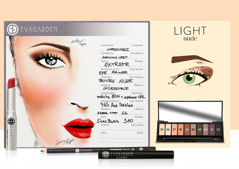 Evagarde face chart light nude